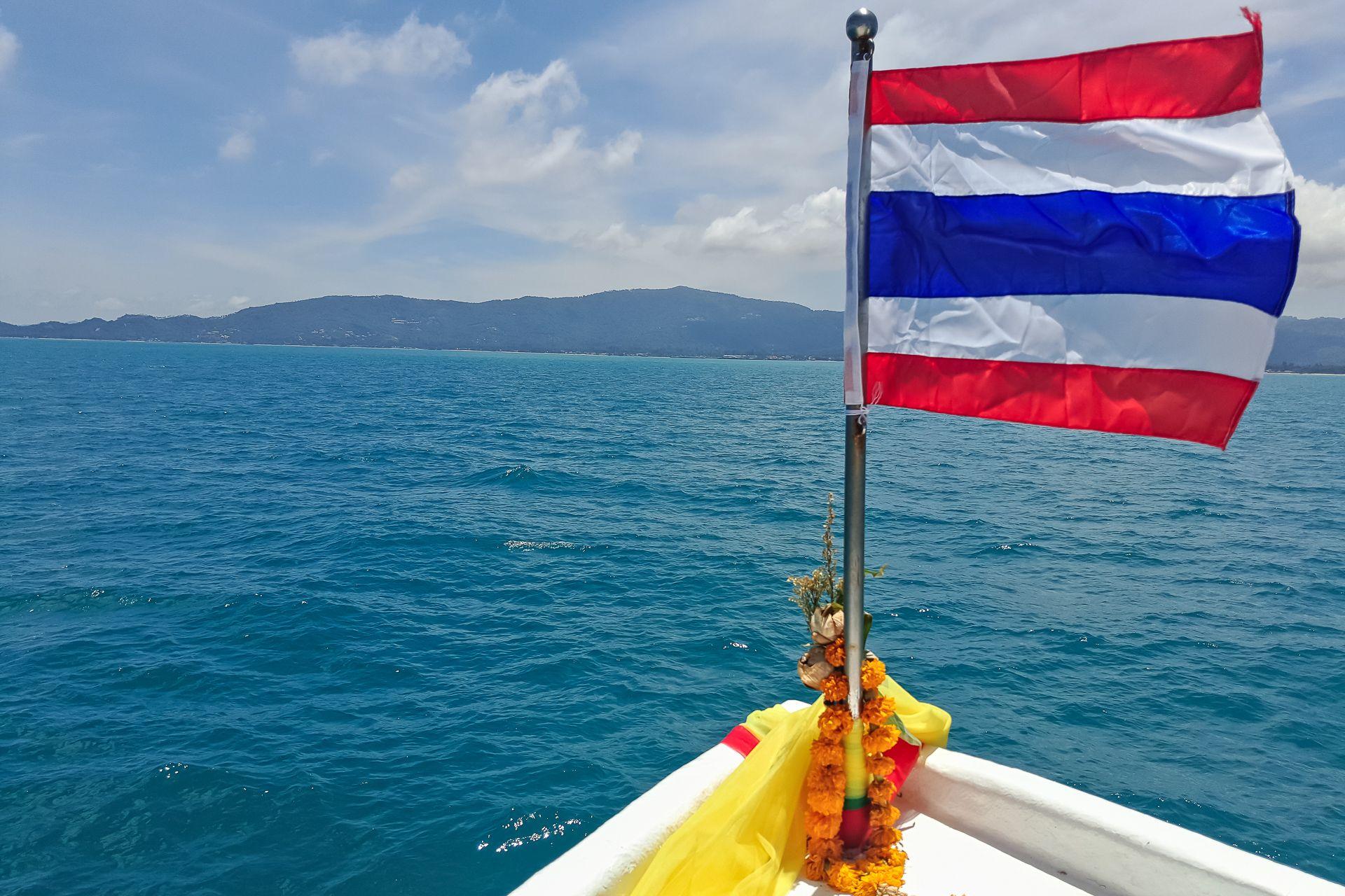 Thailand, flag, sae, Samui, ferry, visa, флаг, флаг Таиланда, тайский флаг, море, паром, остров , Самуи, виза, тайская виза