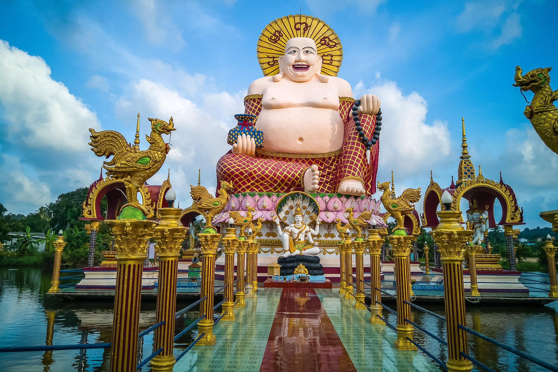 Wat Plai Laem, Ват Плай Лаем, Ват Плай Лем, храм, Самуи, буддизм, достопримечательность, Хоттэй, Гуань Инь