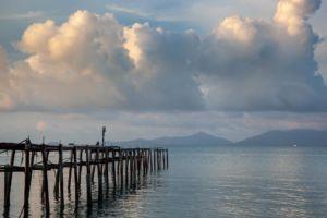 пирс море Самуи пляж Бопут