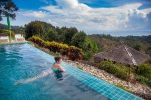 pool, view, mountains, SPA, sea, hotel, Samui, Thailand