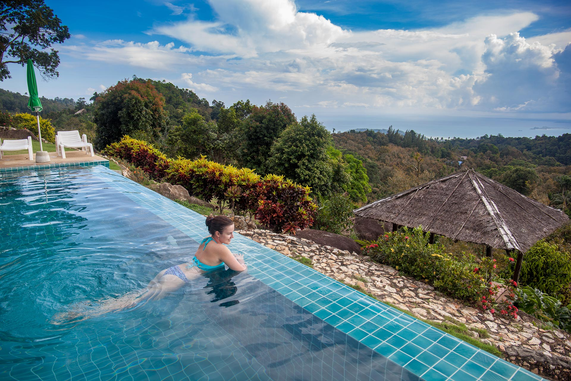pool, view, mountains, SPA, sea, hotel, Samui, Thailand