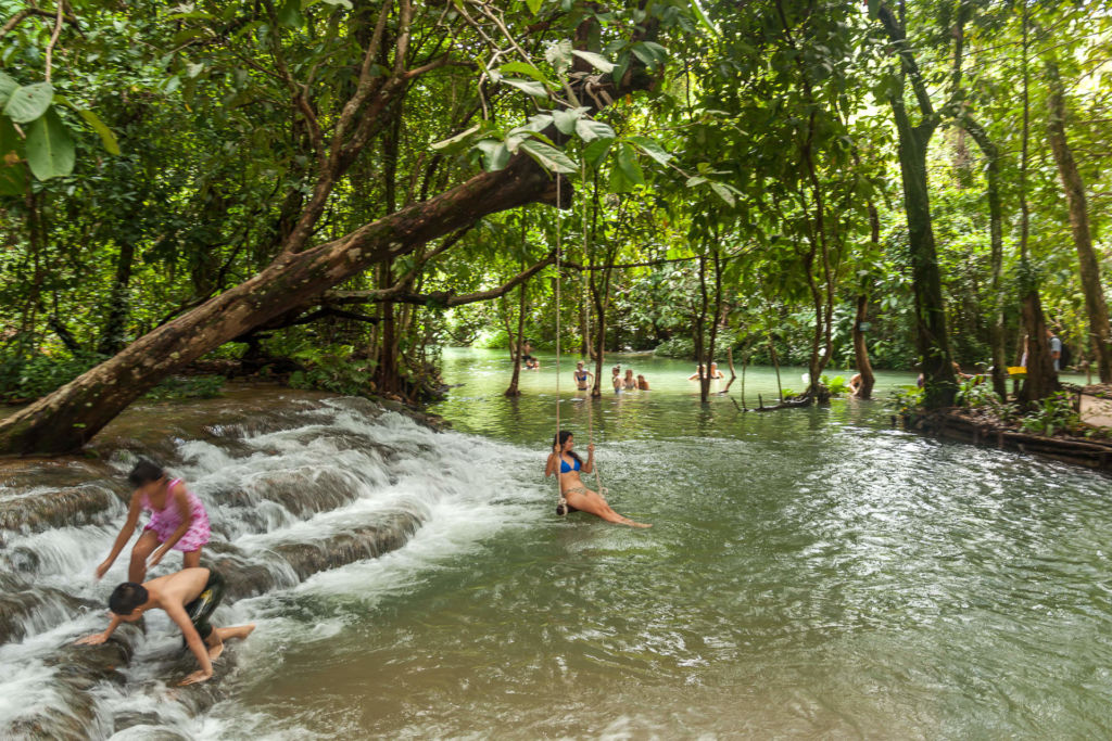 Водопад Куанг Си, Kuang Si Waterfall, Luang Prabang, Laos, Луанг Прабанг, Лаос, , достопримечательность, природа, горы, джунгли