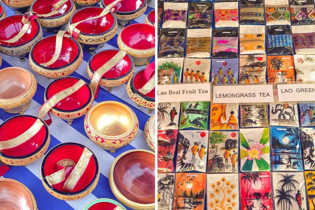 laos, Лаос, market, рынок, Луанг Прабанг, Luang Prabang, lao food, лаосская кухня, сувениры