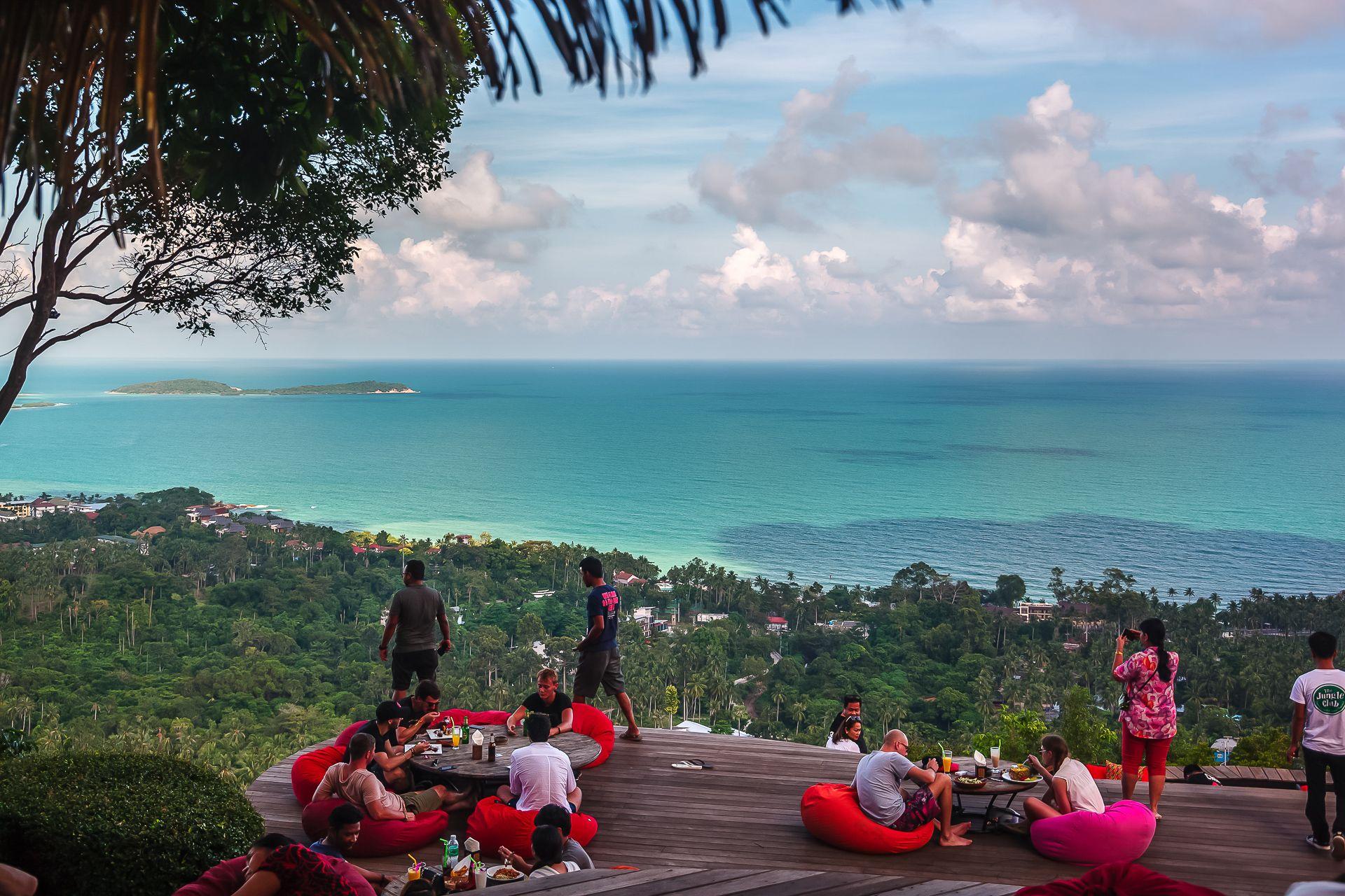 jungle club, Mountain, Grand View, Seaview Restaurant, view point, вьюпоинт, Смотровая площадка, Samui, Thailand, Самуи, тай, Тайланд, Таиланд, пляж, море, красота, отпуск, beach, sea, palms, Paradise, beauty, vacation,