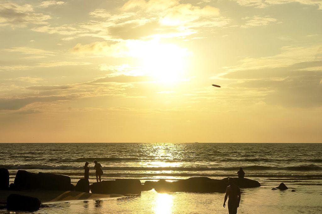 sunset, sea, Indian ocean, India, Goa, закат, море, индийский океан, Индия, Гоа