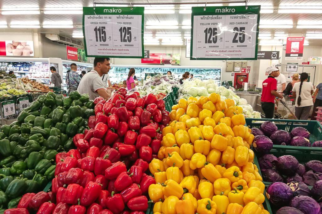 перец, Food price Thailand, Tesko Lotus, Makro, Samui supermarket, цены на Самуи, цены на продукты в Таиланде, тайский супермаркет, обзор цен в Таиланде, обзор цена на Самуи, сколько стоит мясо в Таиланде, сколько стоят морепродукты в Таиланде, цены, Макро, Теско, Самуи, Тай,