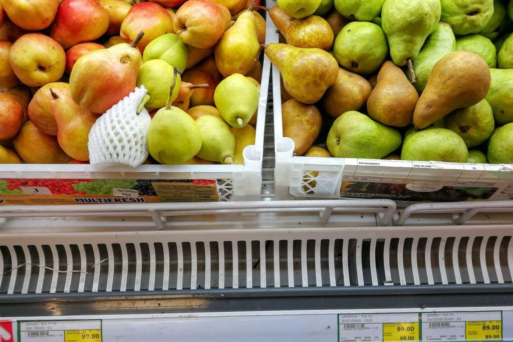 груша, Food price Thailand, Tesko Lotus, Makro, Samui supermarket, цены на Самуи, цены на продукты в Таиланде, тайский супермаркет, обзор цен в Таиланде, обзор цена на Самуи, сколько стоит мясо в Таиланде, сколько стоят морепродукты в Таиланде, цены, Макро, Теско, Самуи, Тай,