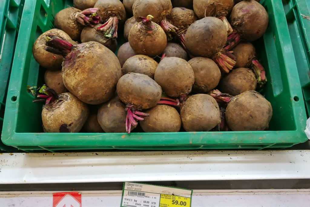 свекла, Food price Thailand, Tesko Lotus, Makro, Samui supermarket, цены на Самуи, цены на продукты в Таиланде, тайский супермаркет, обзор цен в Таиланде, обзор цена на Самуи, сколько стоит мясо в Таиланде, сколько стоят морепродукты в Таиланде, цены, Макро, Теско, Самуи, Тай,