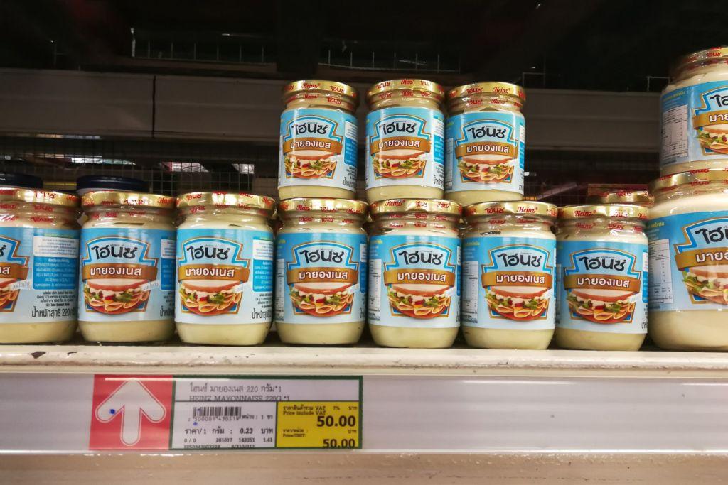 майонез, Food price Thailand, Tesko Lotus, Makro, Samui supermarket, цены на Самуи, цены на продукты в Таиланде, тайский супермаркет, обзор цен в Таиланде, обзор цена на Самуи, сколько стоит мясо в Таиланде, сколько стоят морепродукты в Таиланде, цены, Макро, Теско, Самуи, Тай,