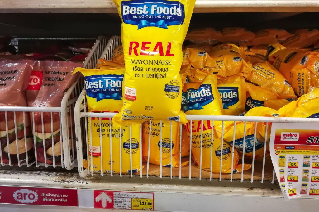 майонез, вкусный майонез в Таиланде, Food price Thailand, Tesko Lotus, Makro, Samui supermarket, цены на Самуи, цены на продукты в Таиланде, тайский супермаркет, обзор цен в Таиланде, обзор цена на Самуи, сколько стоит мясо в Таиланде, сколько стоят морепродукты в Таиланде, цены, Макро, Теско, Самуи, Тай,