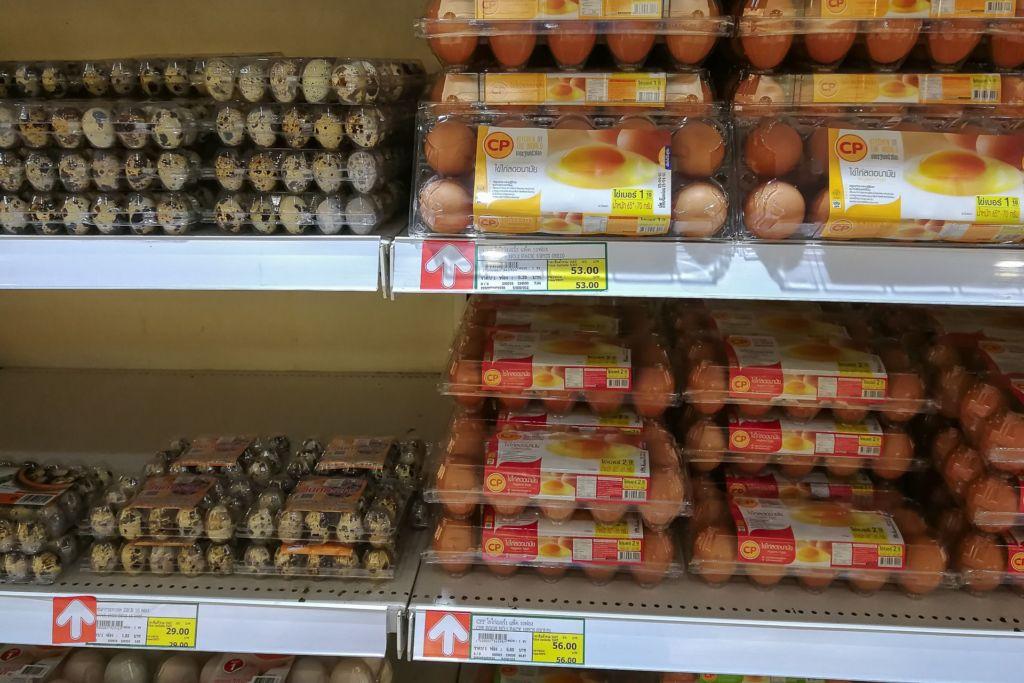 яйца, Food price Thailand, Tesko Lotus, Makro, Samui supermarket, цены на Самуи, цены на продукты в Таиланде, тайский супермаркет, обзор цен в Таиланде, обзор цена на Самуи, сколько стоит мясо в Таиланде, сколько стоят морепродукты в Таиланде, цены, Макро, Теско, Самуи, Тай,