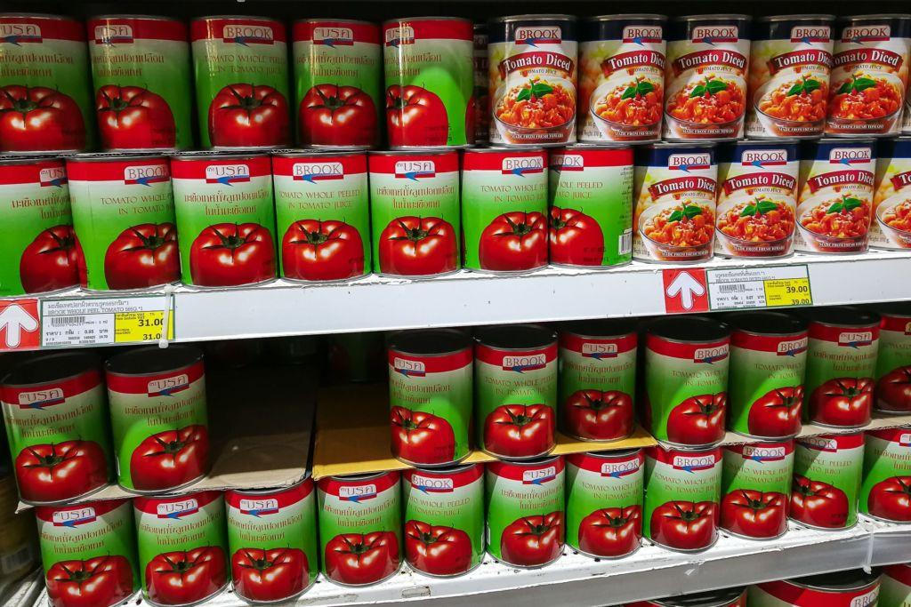 томатная паста, томаты в соку, Food price Thailand, Tesko Lotus, Makro, Samui supermarket, цены на Самуи, цены на продукты в Таиланде, тайский супермаркет, обзор цен в Таиланде, обзор цена на Самуи, сколько стоит мясо в Таиланде, сколько стоят морепродукты в Таиланде, цены, Макро, Теско, Самуи, Тай,