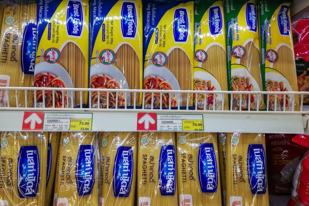 макароны, паста, Food price Thailand, Tesko Lotus, Makro, Samui supermarket, цены на Самуи, цены на продукты в Таиланде, тайский супермаркет, обзор цен в Таиланде, обзор цена на Самуи, сколько стоит мясо в Таиланде, сколько стоят морепродукты в Таиланде, цены, Макро, Теско, Самуи, Тай,