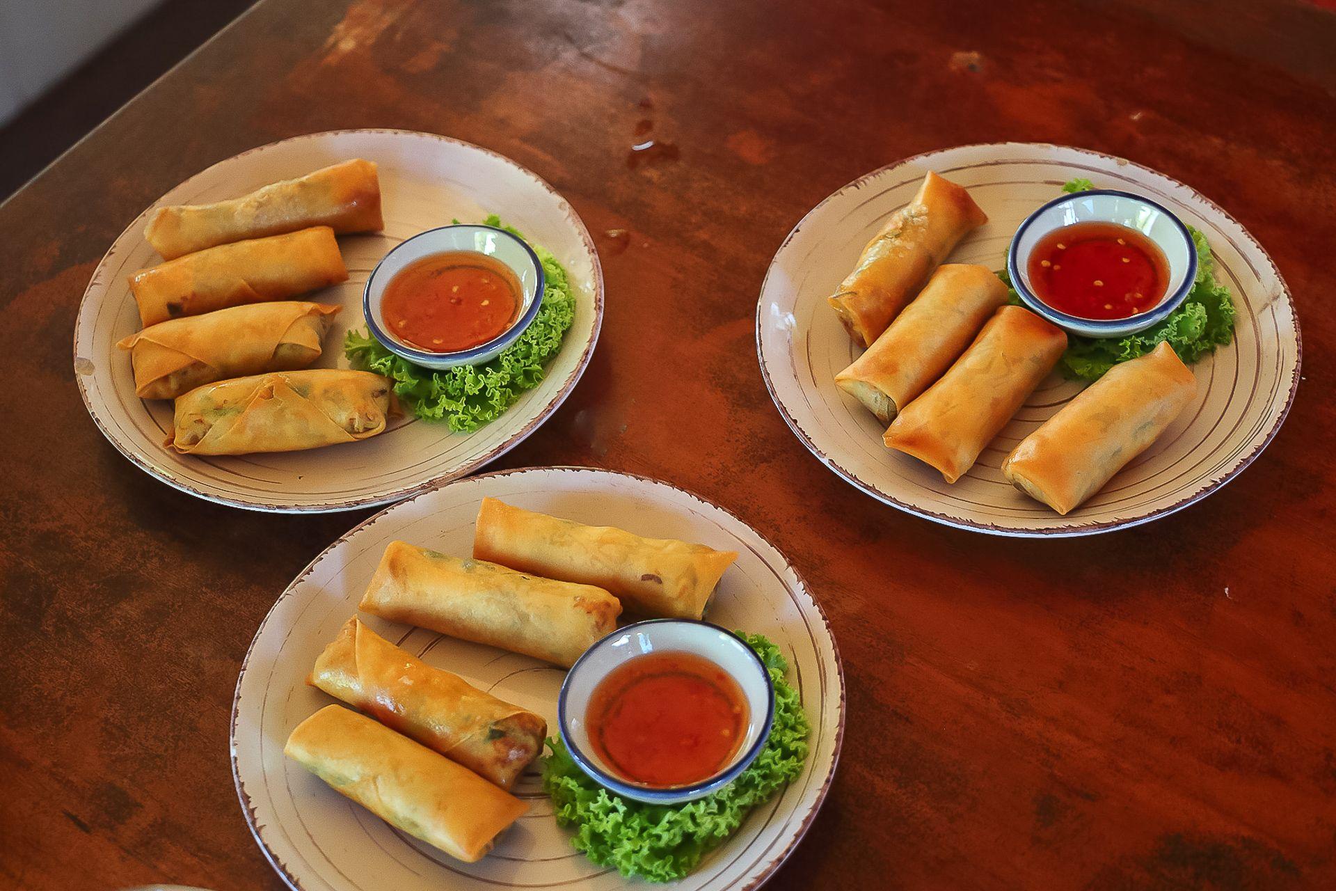 Spring rolls, спринг роллы рецепт, жареные спринг роллы, спринг роллы из рисовой бумаги, тайская кухня, весенние роллы рецепт, готовим тайские блюда, курсы тайской кухни, Самуи, Таиланд, фото рецепт спринг роллы