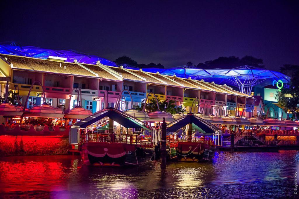 набережная в Сингапуре, Singapore, Сингапур, достопримечательности Сингапура, что посмотреть в Сингапуре, Сингапур столица, сингапур развлечения, Сентоза Сингапур, парк развлечений в сингапуре, ночная жизнь в Сингапуре, куда сходить вечером в Сингапуре, набережная Clarke Quay