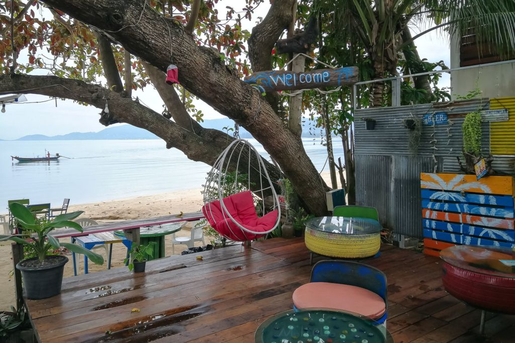 Samui, Thailand, cafe, sea view