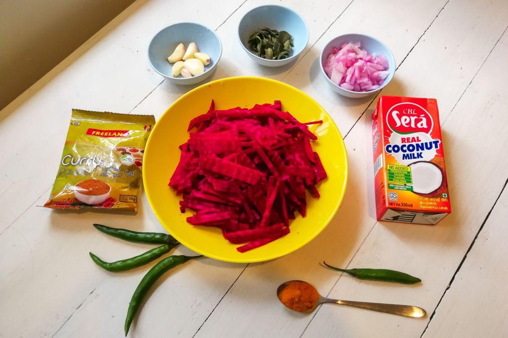 curry, карри, свекла, srilanka food