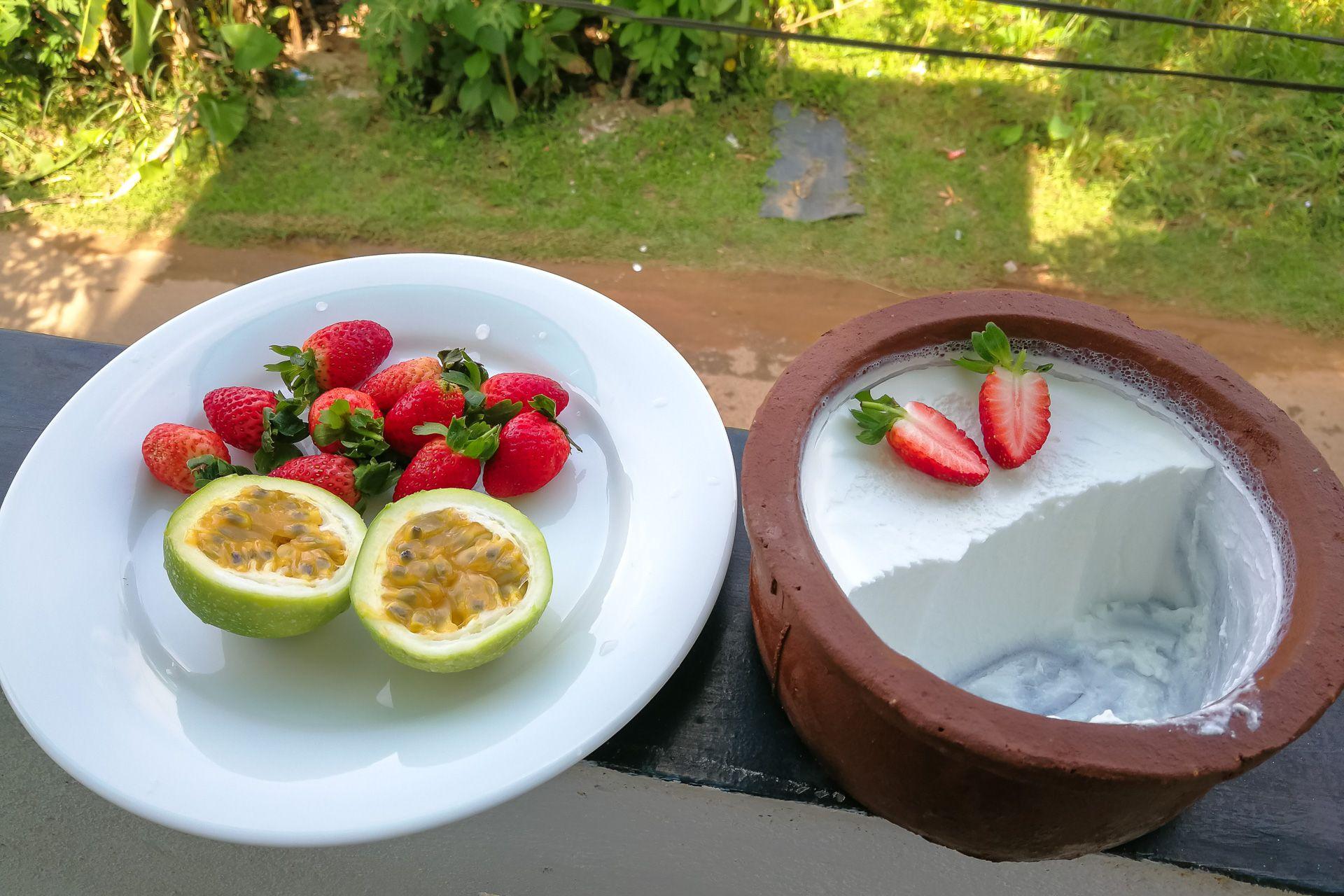 Srilanka food, Шри-Ланка, еда Шри-Ланка, что едят на Шри-Ланке, что попробовать на Шри-Ланке, кухня Шри-Ланки, фрукты Шри-Ланка, желтый кокос, королевский кокос, котту, хопэс, хопес, курд, кёрд, красный банан, Унаватуна еда